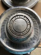 Vtg Chevrolet Motor Division Hubcap Center Rally Derby Style 60andrsquos Lot Of 3 Auto