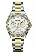 Rotary Lb00066/41 Ladies Two-tone Ladies Watch With Crystal 302 4281
