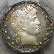 1901 Silver Proof Barber/liberty Head Quarter Certified Pcgs Pr66 Dramatic Look