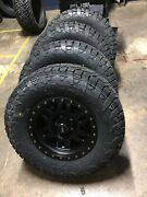 17x8.5 Vision 398 Manx 33 Fuel At Wheel And Tire Package 6x5.5 Chevy Tahoe Tpms