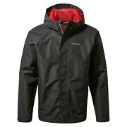 Craghoppers Menand039s Orion Waterproof Jacket Cmw779 Black And Green