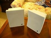 Pair Infinity Outrigger Indoor/outdoor Speakers White W/brackets