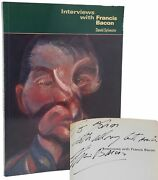 David Sylvester Interviews With Francis Bacon 1st Edition Signed By Bacon