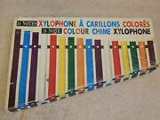 Vintage 14 Note Color Colour Chime Xylophone And Box Japan 1950's - 60's