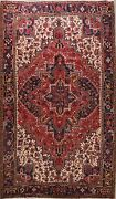 Red Excellent Vintage Traditional Area Rug Hand-knotted Oriental Carpet 8x11
