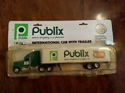 Ertl Publix International Cab With Trailer. Die Cast Metal 1/64 Toy Truck Used