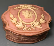 Vintage Genuine Incolay Stone Handcrafted Usa Trinket Jewelry Box Dancing Muses