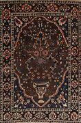 Antique Traditional Tribal Hand-knotted Geometric Area Rug Wool Foyer Carpet 5x7