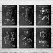 Anesthesia Patent Posters Set Of 6 Medical Student Dentist Gift Physician Gift