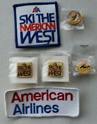 American Airlines Ski The American West Sports Pins And Patches Lot Qty 6 New