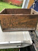 Vintage E Robinsons Sons Brewers Scranton Pa 1934 Wooden Beer Bottle Crate Rare