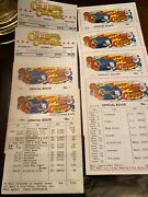 Clyde Beatty - Cole Bros Circus Route Cards - Lot Of 8 - 1978 1983 1986 2000