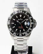 Marcelloc Trident Gmt Ref2040.4 1000m Auto New German Watch Free Shipping