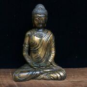 6.7 Exquisite Asian Chinese Old Antique Bronze Ware Buddha Statue 5