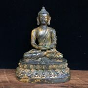 7.4 Exquisite Asian China Old Antique Bronze Ware Buddha Statue A