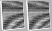 2 Cabin Air Filters - Carbon Media, Absorbs Odors, Fits 2011 Bmw 750i