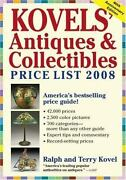 Kovelsand039 Antiques And Collectibles 2008 Price List 42000 Prices New Condition