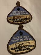 Philmont Scout Ranch Seton Memorial Library And Museum Patches Lot Of 2, Bsa