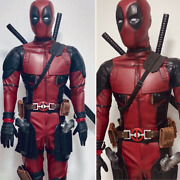 Deadpool Suit/ Deadpool Costume With Deadpool Shell Mask And Mesh Pattern