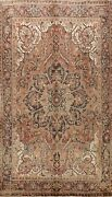 Geometric Semi-antique Traditional Area Rug Living Room Hand-knotted Wool 7x11