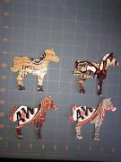Horse Christmas Ornament On Recycled Aluminum Beverage Can