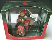 Vintage Santaand039s Best Christmas Ornament Elves With Old Fashioned Box Camera