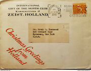 I 1955 Nederland Orange Stamp Circulated Cover From Holland To Syracuse New