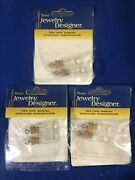 3 Darice Jewelry Designer 2pc Empty Glass Bottle Charms For Jewelry Making New