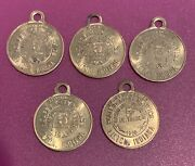1966 Wolf City Service Gasoline 5 Cent Trade Tokens - Linton Indiana - 5 Total