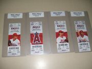 Rare Mike Trout Ticket Lot Of16 2012 Roy Home Run Hr Season Tickets At Home