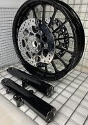 Harley Touring Front Talon 2009 -19 Glass Black Wheel Forks And Rotors Outright