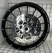Harley Touring Front Talon Rim 2009 -19 Glass Black Wheel And Rotors Outright