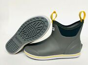 New Menand039s 22735 Xtratuf 6 Full Rubber Ankle Deck Boot Gray/yellow Fishing Boots