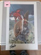Spiderman Print Spirits Of The Earth 83/150 Charles Vess/stan Lee Autographs