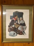 Norman Rockwell Hand Signed Limited Edition Print The Texan Gary Cooper