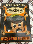 40and039s Super Rare Walt Disney Mickey Mouse - Mask And Costume In Original Box