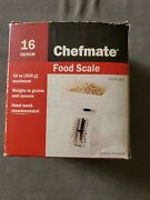 Chefmate Food Scale White Up To 16oz/500g
