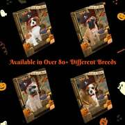 Halloween Trick Or Treat Dog Cat Pet Photo Refrigerator Magnet 11.5x17.6 In