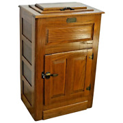 Vintage White Clad Ice Box Two Door Cabinet Made By Simmons Hardware Company