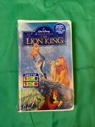 Walt Disney The Lion King Vhs 1995 Masterpiece Collection Brand New