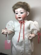 15andrdquo Antique Germany Bisque Doll Compo Body Kley And Hahn Baby W/ Cryer Great Sf2