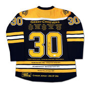 Gerry Cheevers Career Jersey 299 Of 299 - Autographed - Boston Bruins