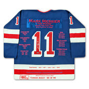 Mark Messier Nyr Career Jersey 199 Of 199 - Autographed - New York Rangers