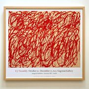Cy Twombly Rare Abstract Expr Lithograph Print Framed Exhbtn Poster Bacchus