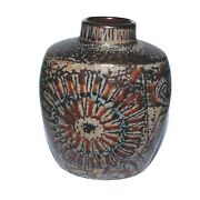 Royal Copenhagen Pottery Vase Baca And039 Fajance And039 1st Quality 7412