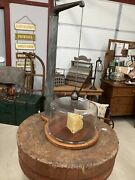 Antique Rare General Store Cheese Safe Counter Balance Display