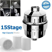 15 Stage Shower Head Filter Purifier With Extra Filter Cartridge For Hard Water