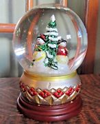 Waterford Snowy Village Snowglobe Musical We Wish You A Merry Christmas