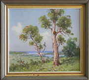 William Lister Lister 1859-1943 Original Oil Painting Blue Lagoon Manly Sydney