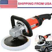 Electric Car Polisher Buffer Sander Waxer Kit Variable 8-speed 7 1400w W/ Pads
